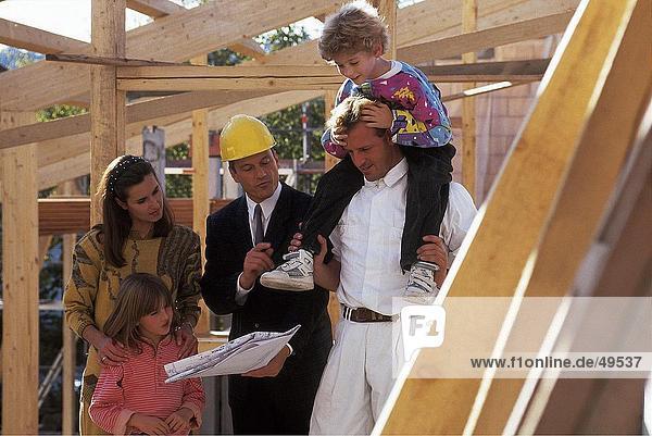 stehend bauen Architekt