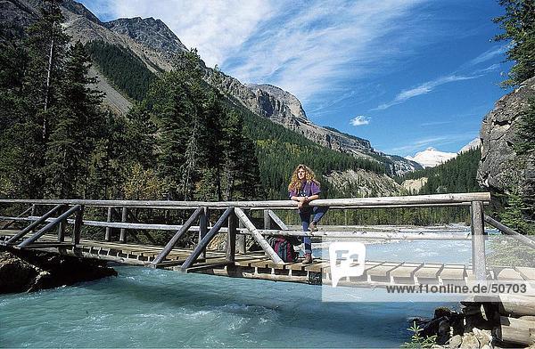 Bridge across river  Yoho National Park  British Columbia  Canada