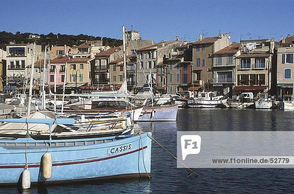 Boote im Hafen  Cassis  Provence  Frankreich