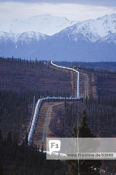 Erhöhte Ansicht Gaspipeline  Yukon  Kanada
