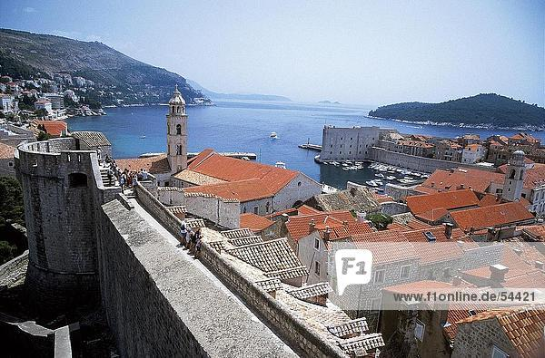 Buildings at coast  Dubrovnik  Croatia