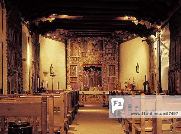Innere der Kirche  Santa Fe  Santa Fe  New Mexico  USA