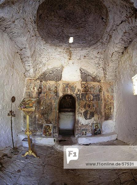 Altar der Kirche  Peloponnes  Griechenland