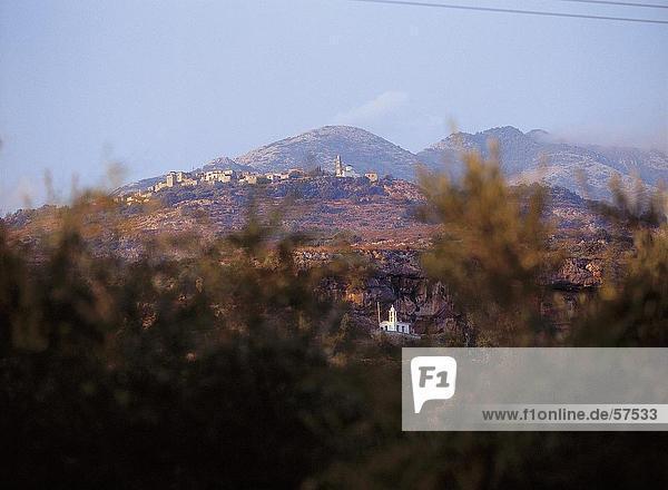 sehen Landschaft Pflanze Kirche Griechenland