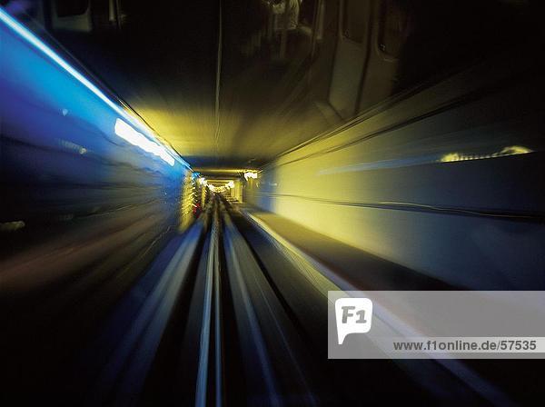 Verschwommene Sicht der Zug in Bewegung  Denver  Colorado  USA