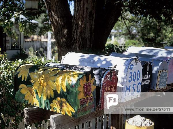 Nahaufnahme der Postfächer  New Mexico  USA