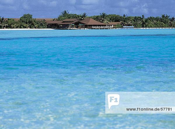Urlaubsort an der Waterfront  Atoll  Malediven