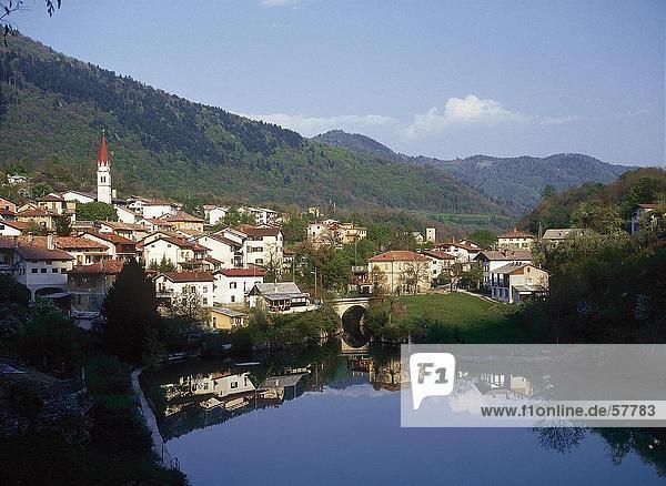 Wasser Himmel Gebäude Stadt Fluss Spiegelung Slowenien