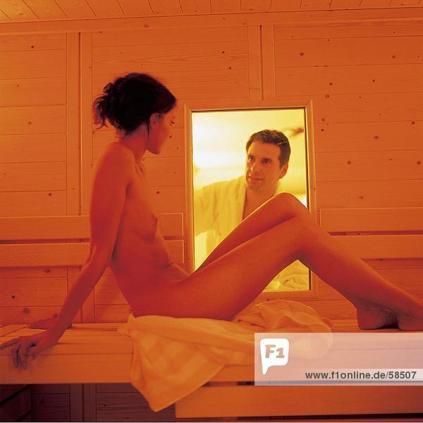Nackt sauna Finnische Sauna