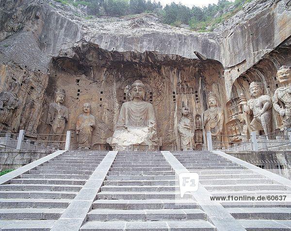 China  Henan  Buddha-Statue in Longmen Gorttoes in Luoyang