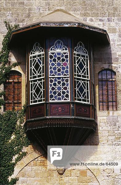 Fenster des Palastes  Beiteddine Palast  Beiteddine  Libanon