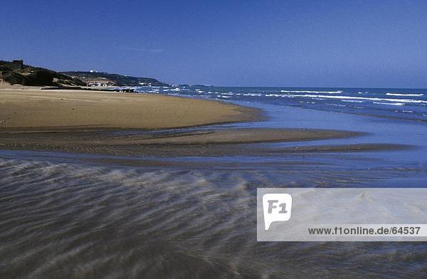 Ripples in Sand am Strand  Türkei