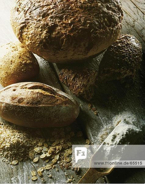 Erhöhte Ansicht der Laib Brot