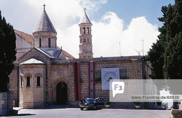 Fassade der Kirche  armenischen Christian Church  Harissa  Libanon
