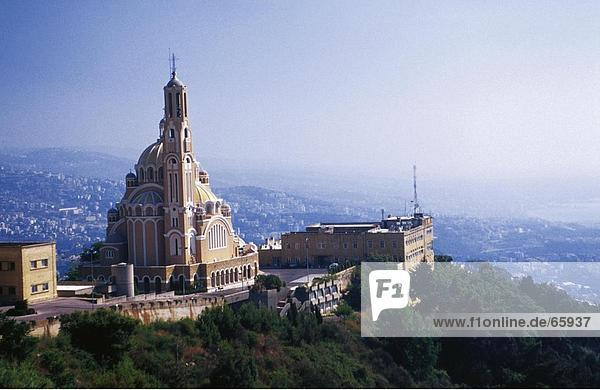 Kirche auf dem Hügel  Basilika von St. Paul  Harissa  Libanon