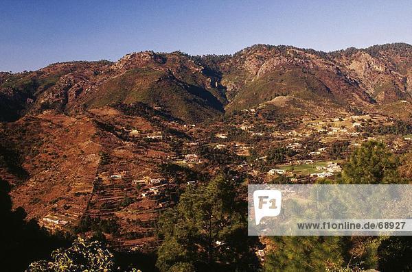 Luftbild von Hügeln  Margalla Hills  Islamabad  Pakistan