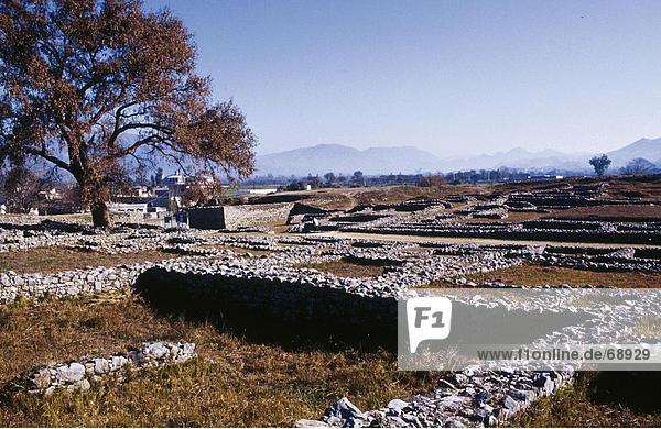 Die Ruinen auf Hill  Margalla Hills  Islamabad  Pakistan