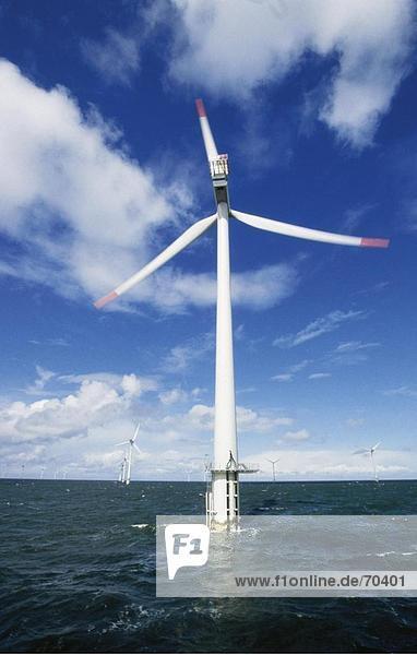 Windturbine Windrad Windräder Meer