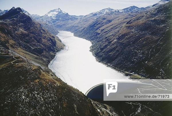 10203591  auf Averser Rhein  Rhein  Fluss  Strom  Energie  Italien  Europa  KW Hinterrhein  Lago di Lei  Luftaufnahme  Schweiz