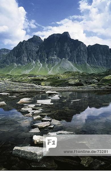 10485785  Gebirge  Berg  See  Stein  Klippe  Graubünden  Graubünden  Landschaft  Pass  San Bernardino  Schweiz  Europa  Wolke