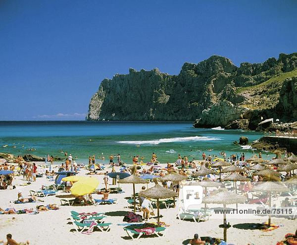 10631970  Strand  animiert  Bucht  Mallorca  San Vicente Beach  Spanien  Europa  steilen Küste  Strandurlaub