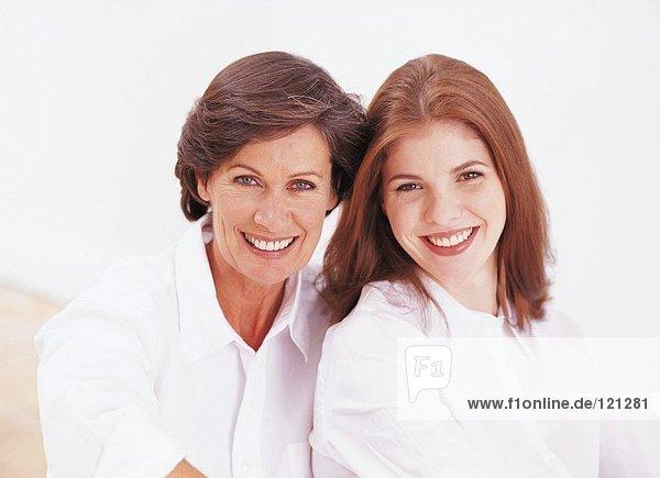 Porträt einer Tochter und Mutter