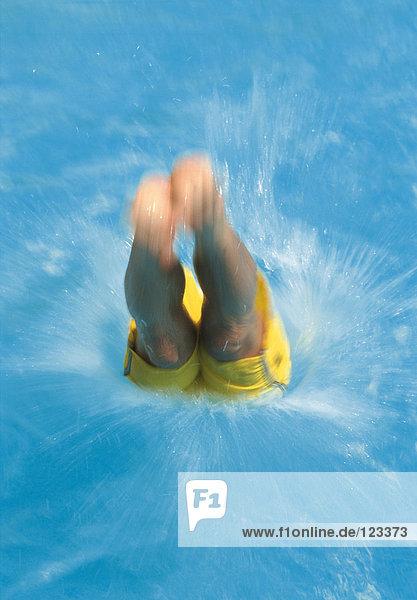 Eintauchen ins Wasser