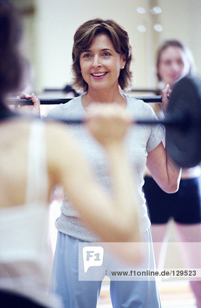 Frau Gewichtheben Frau Gewichtheben