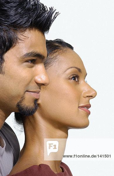 Profil des asiatischen Paares