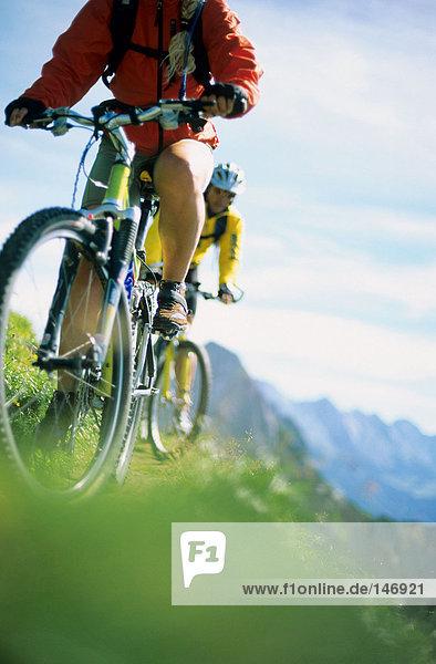 Menschen Mountainbiken