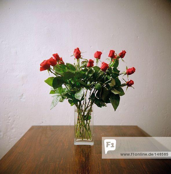 Nahaufnahme der rose Blumen in der vase
