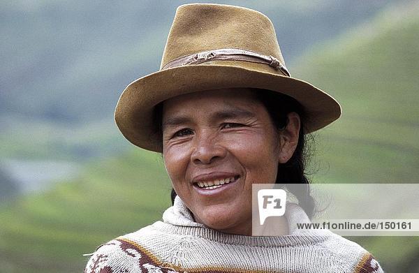 Nahaufnahme Frau lächelnd  Peru