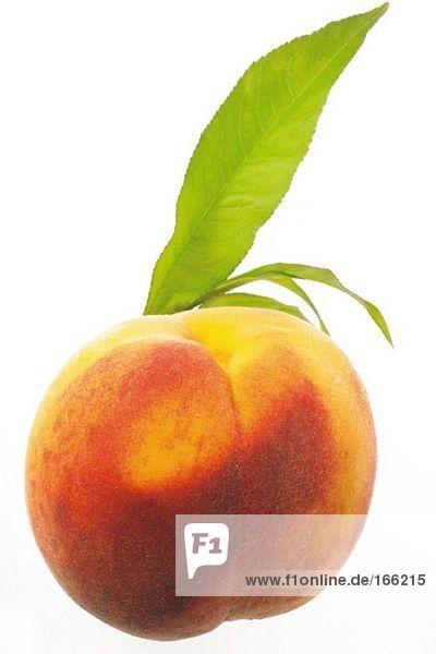 Frischer Pfirsich  Nahaufnahme