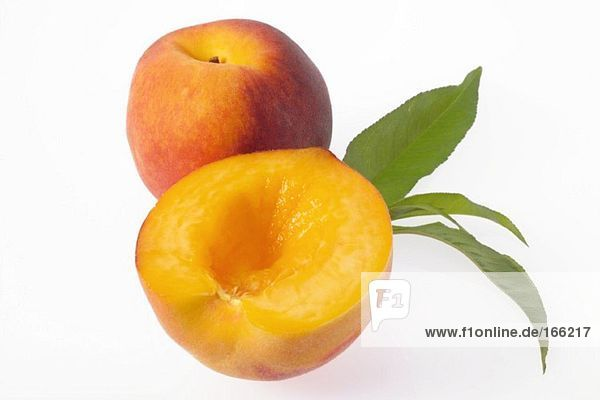Frische Pfirsiche  Nahaufnahme