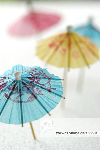 Cocktail umbrellas  close