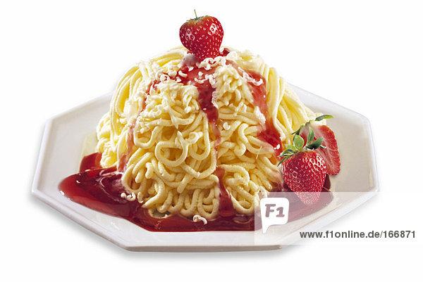 Spaghetti-Eiscreme