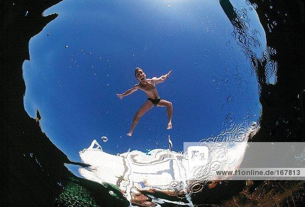 Wasser Mann unterhalb Reise Ansicht Schwimmbad Ägypten Rotes Meer