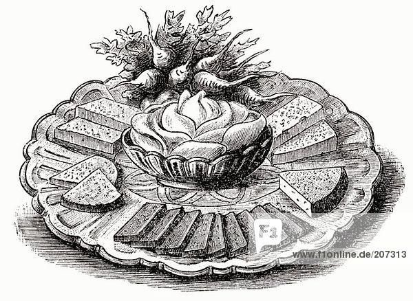 Käseplatte (Illustration)