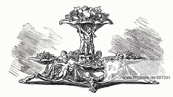 Alte festliche Obstetagere (Illustration)