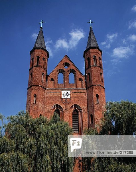 Low angle view of cathedral  Brandenburg  Germany