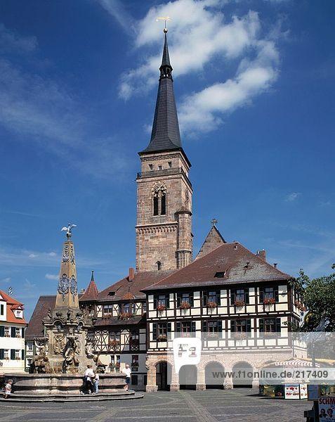 Facade of church  St. Martin's Church  Bavaria  Germany