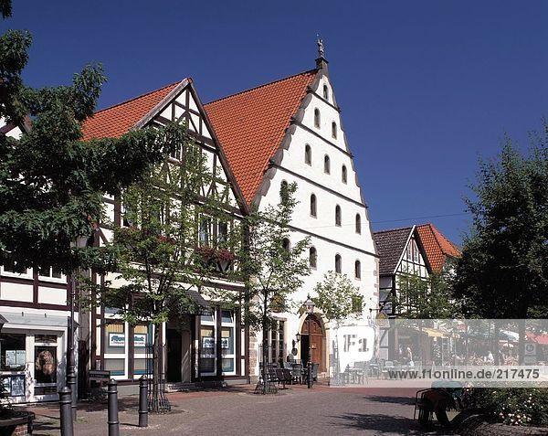 Fassade des Rathauses  Bad Munder Am Deister  Hameln-Pyrmont  Niedersachsen  Deutschland