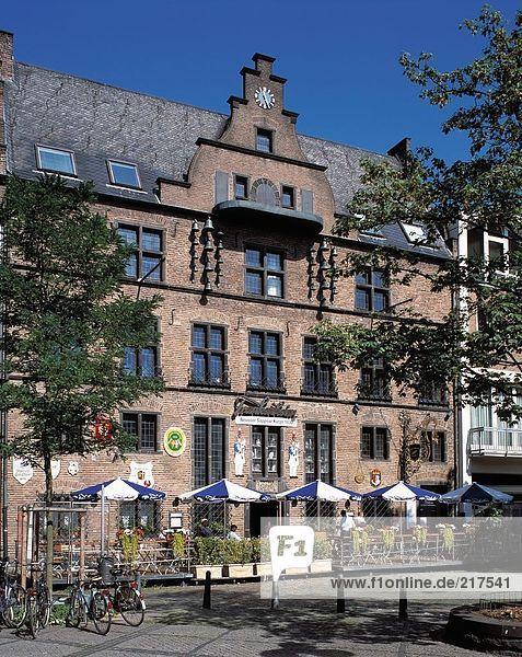 Fassade des Restaurant  Niederrhein  Niederrhein  Nord-Rhein Westfalen  Deutschland