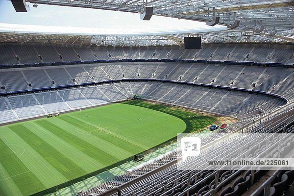 Luftbild von Fußballstadion  Allianz-Arena  München  Bayern  Deutschland