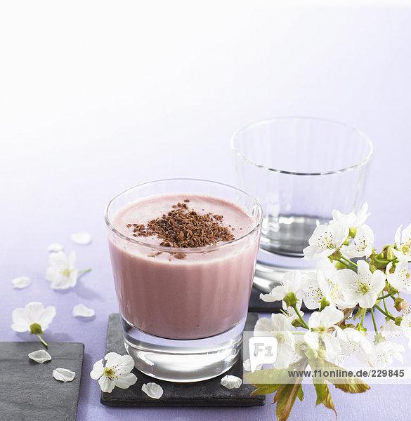 Kirsch-Schokoladen-Mixgetränk