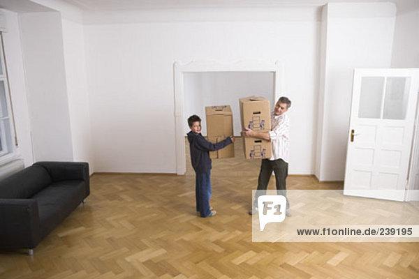 Mann tragen Junge - Person Apartment Bewegung neu