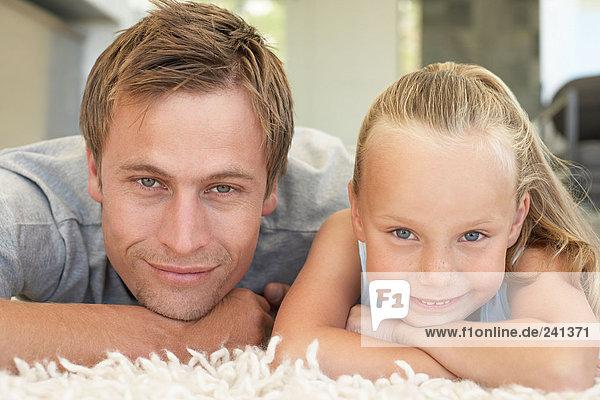 Porträt eines Vaters und seiner Tochter