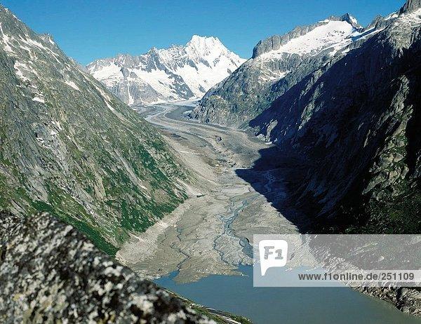 10016357  alpine  Alpen  Schweiz  Europa  Berge  Gletscher  Eis  Gletscher  Landschaft  dem Unteraargletscher  Kurs