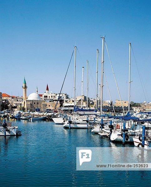 10520873  Akko  Old Town  Galilea  Hafen  Port  Israel  Moschee  Boote