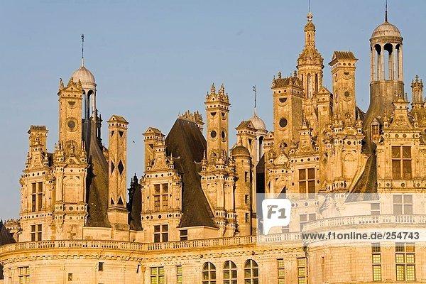 Hohe Schnittansicht des Schlosses  Chateau De Chambord  Loir-Et-Cher  Frankreich